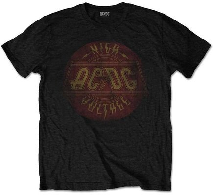 AC/DC Unisex Tee High Voltage Vintage L