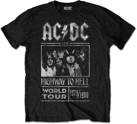 AC/DC Unisex Tee Highway to Hell World Tour 1979/1980 Black XXL