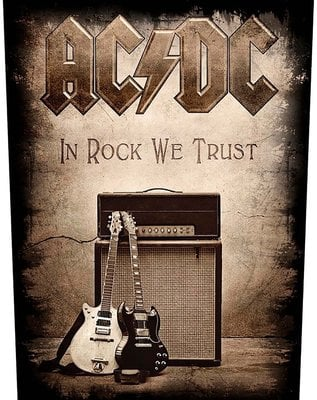 AC/DC Back Patch In Rock We Trust