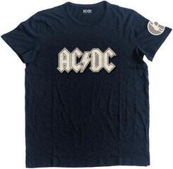 AC/DC Unisex Fashion Tee Logo & Angus (Applique Motifs) Navy L