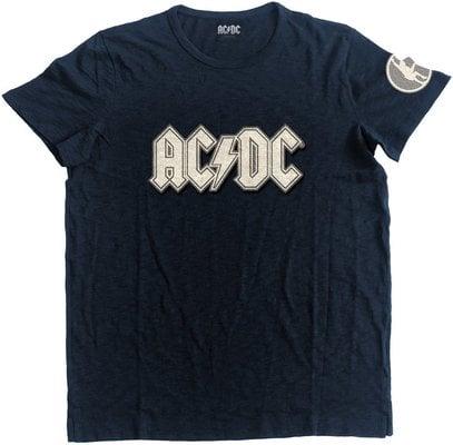 AC/DC Unisex Fashion Tee Logo & Angus (Applique Motifs) Navy XXL
