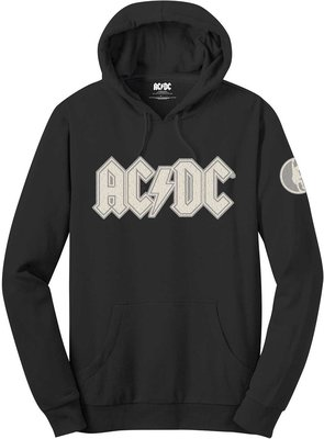 AC/DC Unisex Pullover Hoodie Logo & Angus (Applique Motifs) L
