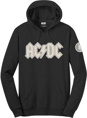 AC/DC Unisex Pullover Hoodie Logo & Angus (Applique Motifs) XL