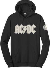 AC/DC Unisex Pullover Hoodie Logo & Angus (Applique Motifs) Black
