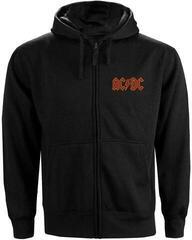 AC/DC Unisex Zipped Hoodie Logo (Back Print) L