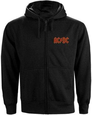 AC/DC Unisex Zipped Hoodie Logo (Back Print) XXXL