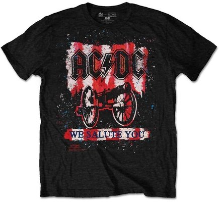AC/DC Unisex Tee We Salute You Bold S