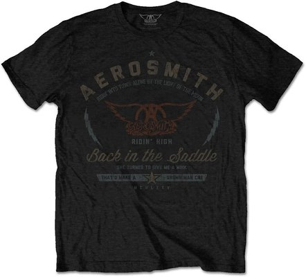 Aerosmith Unisex Tee Back in the Saddle L