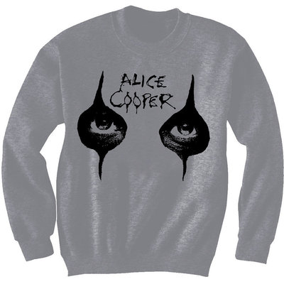 Alice Cooper Unisex Sweatshirt Eyes Grey M