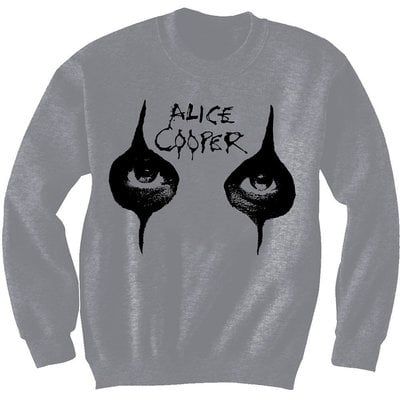 Alice Cooper Unisex Sweatshirt Eyes Grey S