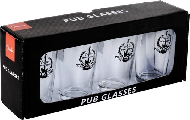 Fender 60th Anniversary Pint Glasses