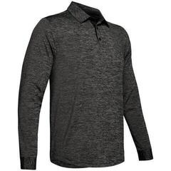 Under Armour UA Long Sleeve Playoff 2.0 Mens Polo Shirt Black