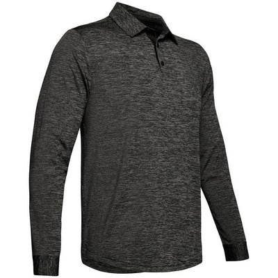 Under Armour UA Long Sleeve Playoff 2.0 Mens Polo Shirt Black 2XL