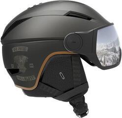 Salomon Pioneer Visor Ski Helmet Café Racer