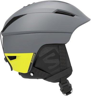 Salomon Pioneer C.Air Skihelm Shade GreyNeon Yellow M