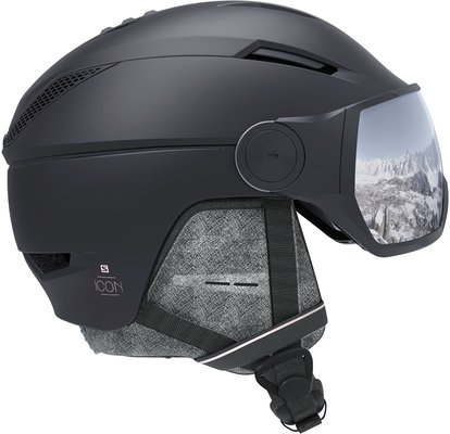 Salomon Icon2 Visor Ski Helmet Black S 19/20