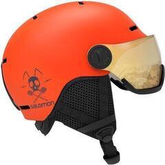Salomon Grom Visor Ski Helmet Flame