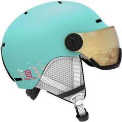 Salomon Grom Visor Ski Helmet Aruba Glossy