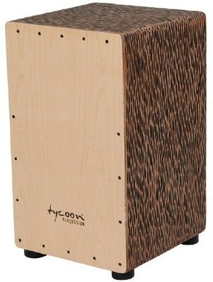 Tycoon Box Cajon Hardwood Chiseled Orange & Beech Frontplate