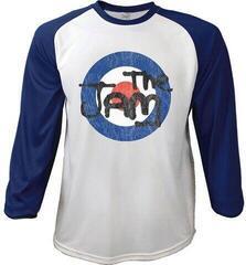 The Jam Unisex Raglan Tee Target Logo Distressed Navy Blue/White