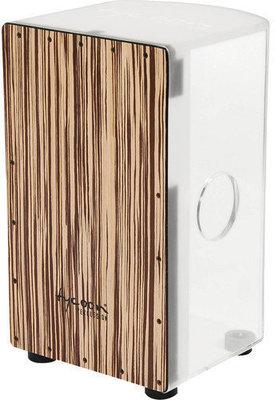 Tycoon Acrylic Body Cajon White Zebrano Frontplate
