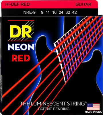 DR Strings NRE-9 K3 Neon Red Electric Lite