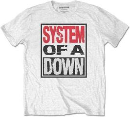 System of a Down Unisex Tee Triple Stack Box White