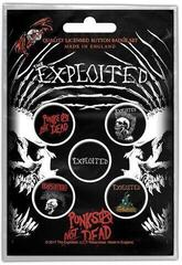 The Exploited Button Badge Pack Punks Not Dead