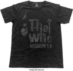 The Who Unisex Fashion Tee Max R&B Vintage (Vintage Finish) Black