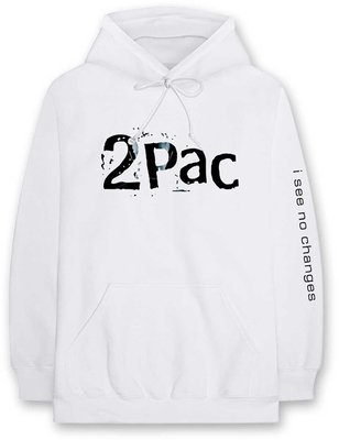 2Pac Unisex Pullover Hoodie I See No Changes L
