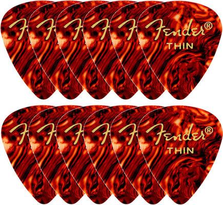 Fender 451 Shape Classic Celluloid Picks Shell Thin 12 Pack
