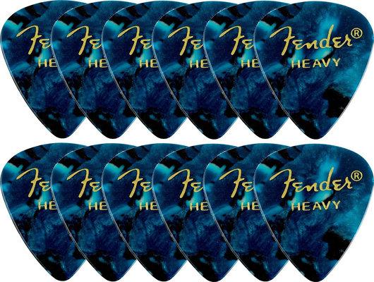 Fender 351 Shape Premium Picks Ocean Turquoise Heavy 12 Pack