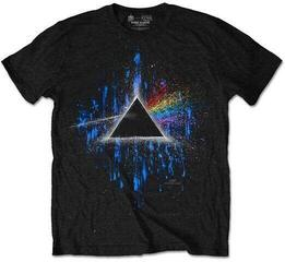 Pink Floyd Unisex Tee Dark Side of the Moon Blue Splatter Blue