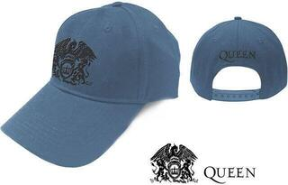 Queen Unisex Baseball Cap Black Classic Crest Denim Blue