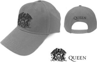 Queen Unisex Baseball Cap Black Classic Crest Grey