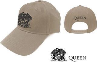 Queen Unisex Baseball Cap Black Classic Crest Sand