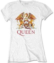 Queen Ladies Tee Classic Crest White