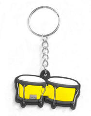 Musician Designer Music Key Chain Bongo Yellow