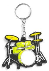 Musician Designer Music Key Chain Drum Set Green