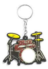 Musician Designer Music Key Chain Drum Set Red