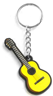 Musician Designer Music Key Chain Classical Guitar