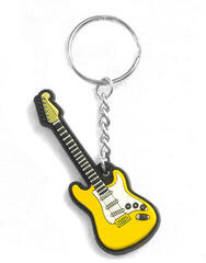Musician Designer Music Key Chain Electric Guitar Yellow