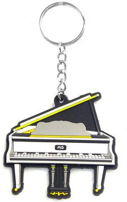 Musician Designer Music Key Chain Grand Piano White