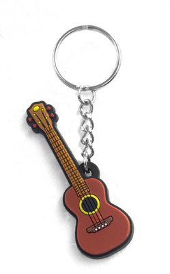 Musician Designer Music Key Chain Ukulele Brown