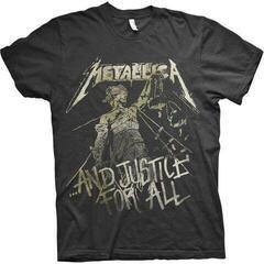 Metallica Unisex Tee Justice Vintage Black