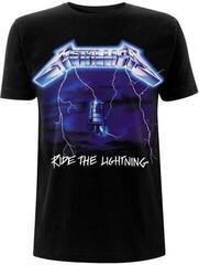 Metallica Unisex Tee Ride The Lightning Tracks (Back Print) Black