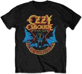Ozzy Osbourne Unisex Tee Bat Circle Limited Edition Collectors Item Black