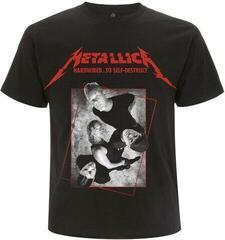 Metallica Unisex Tee Hardwired Band Concrete Black