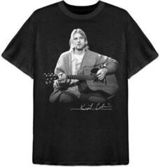 Kurt Cobain Unisex Tee Guitar Live Photo Black