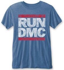 Run DMC Unisex Fashion Tee Vintage Logo (Burn Out) L